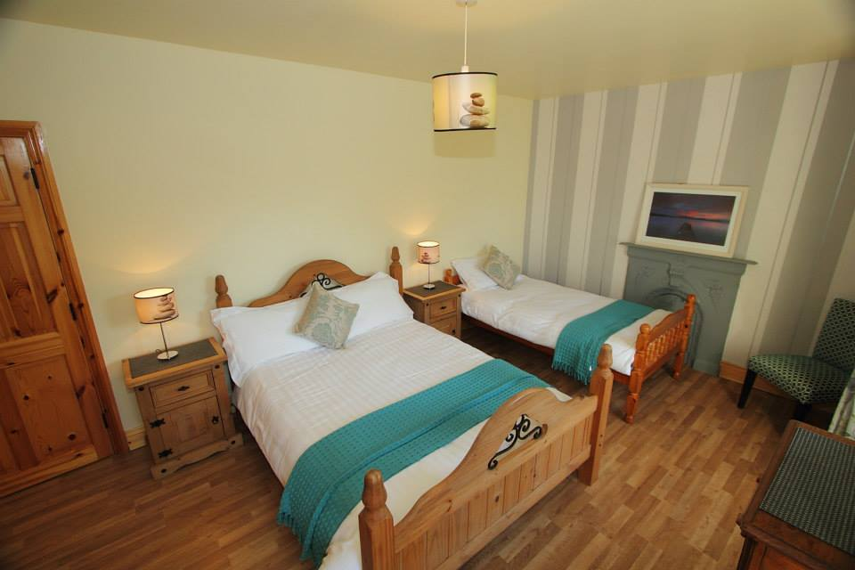 Triple room; with one double bed and one single bed